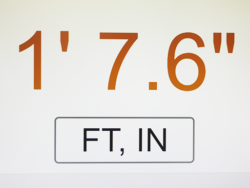 Distance display at a glance